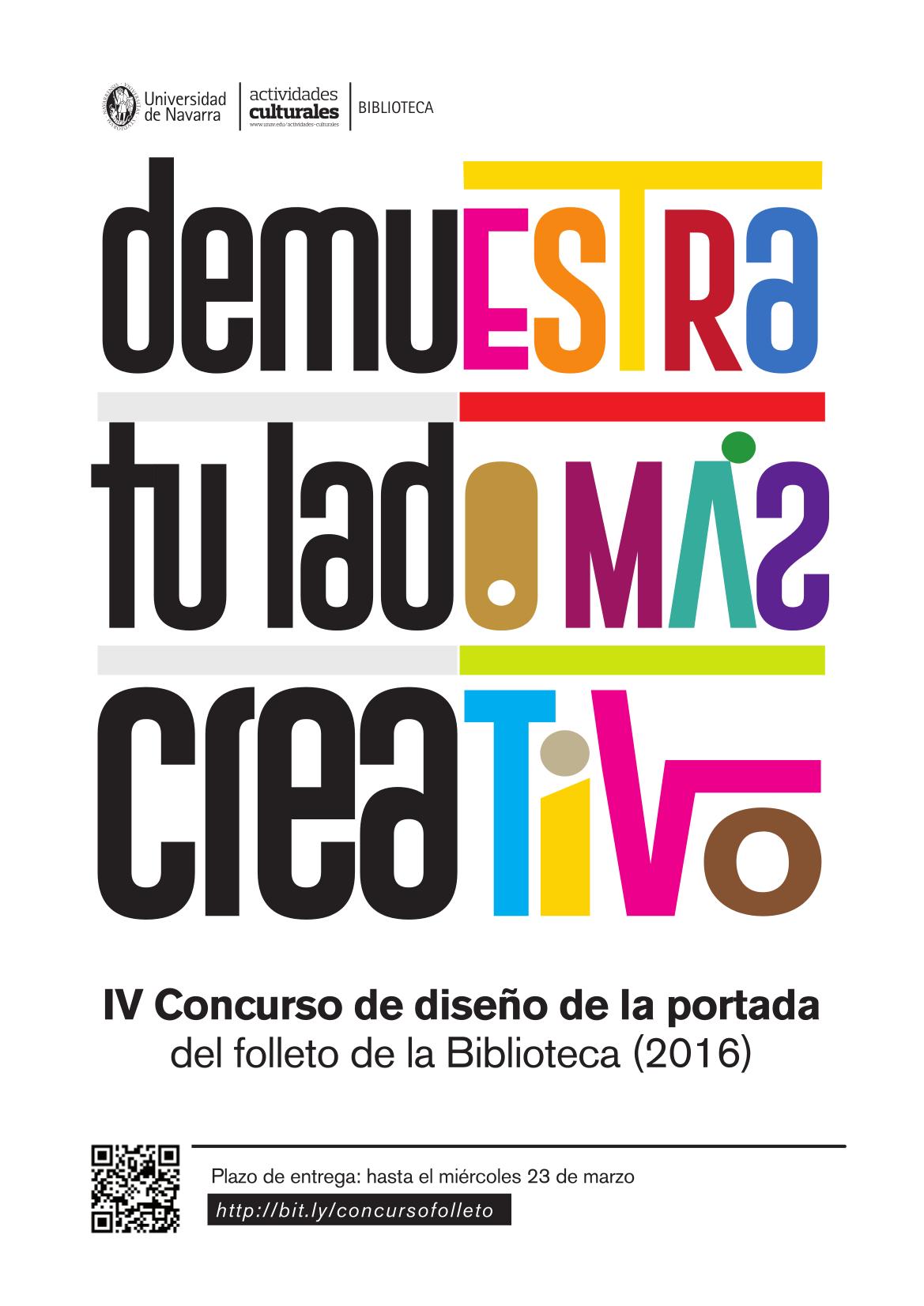 Iv concurso de dise o de la portada del folleto de la for Concurso de docencia 2016
