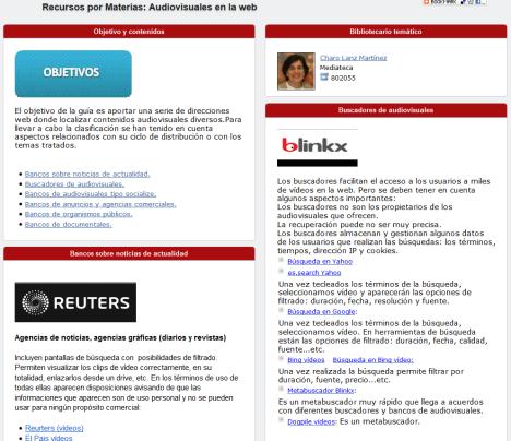 Audiovisuales en la web: nueva guía temática | La Biblioteca informa