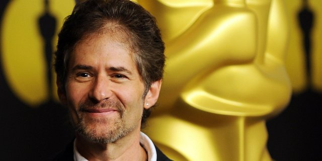 """(FILES) This file photo taken on February 15, 2010 shows composer James Horner arriving at the 82nd annual Academy Awards Nominee Luncheon at the Beverly Hilton Hotel in Beverly Hills, California. James Horner, the celebrated composer of several Hollywood smash-hit films including """"Titanic"""" and """"Avatar,"""" died on June 22, 2015 in a plane crash at the age of 61, US media reported.   AFP PHOTO / FILES / GABRIEL BOUYS"""