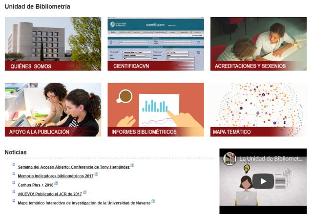 Nuevo sitio web de la Unidad de Bibliometría.